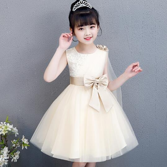 莎芭 花童禮服 洋裝 女童公主裙蓬蓬紗裙 連身裙時尚裙子潮