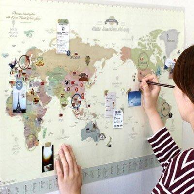 Ξ ATTIC Ξ 韓國indigo~ Deco Travel World-Map v.3 世界地圖(附貼紙,塗鴉板)
