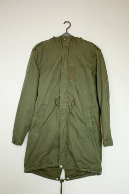 PULL & BEAR PARKA 軍大衣 魚尾 長版大衣 軍綠色 M 號 M51 高雄市