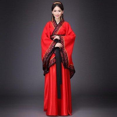 演出服 古裝中式漢式婚禮服紅色新娘新郎結婚服喜服漢服唐朝漢朝男女  可開發票 『慕童小屋』