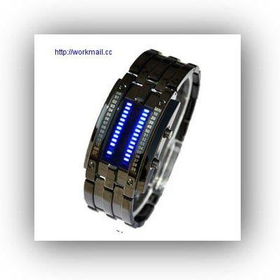 yes99buy加盟-正品韓國時尚鎢鋼男表LED防水電子表複古表創意情侶手錶