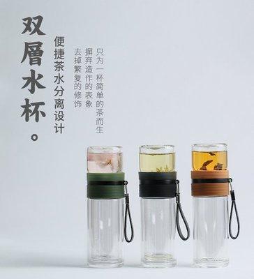 茶水分離泡茶杯雙層耐熱玻璃杯辦公室隔熱保溫過濾水杯_☆找好物FINDGOODS☆