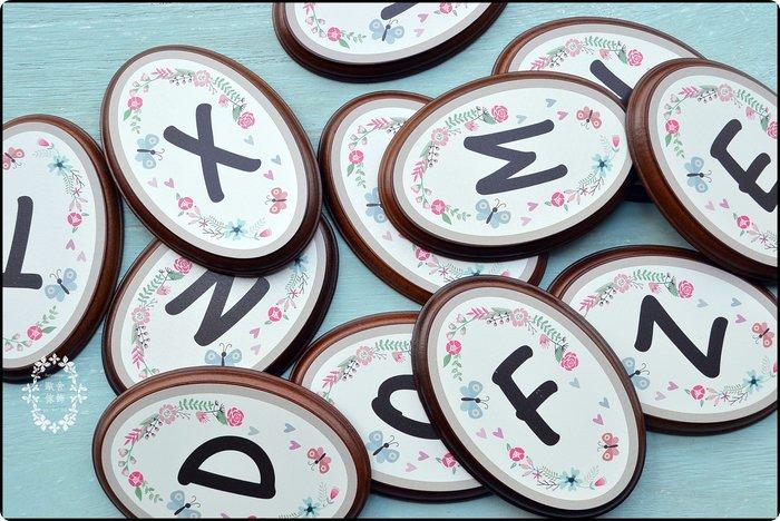 木製橢圓英文字母牌 字母單字拼字 推拉門牌標示牌廁所指示牌告示牌吊牌掛牌壁飾 LOVE HOME 【【歐舍家飾】】