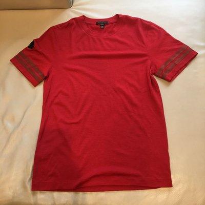 [品味人生2]保證正品  Louis Vuitton LV 紅色  毛料 厚T恤 短袖毛衣sizeS