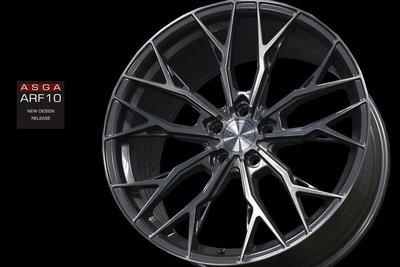 【宏程輪胎】ASGA 19吋炫壓鋁圈 5/108 5/112 5/114.3  ARF10 8.5j ET38 透明灰