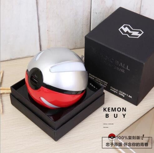 Pokemon口袋妖怪Go 精靈球2代  12000毫安培充電寶 雙USB手機通用創意迷你移動電源#5919