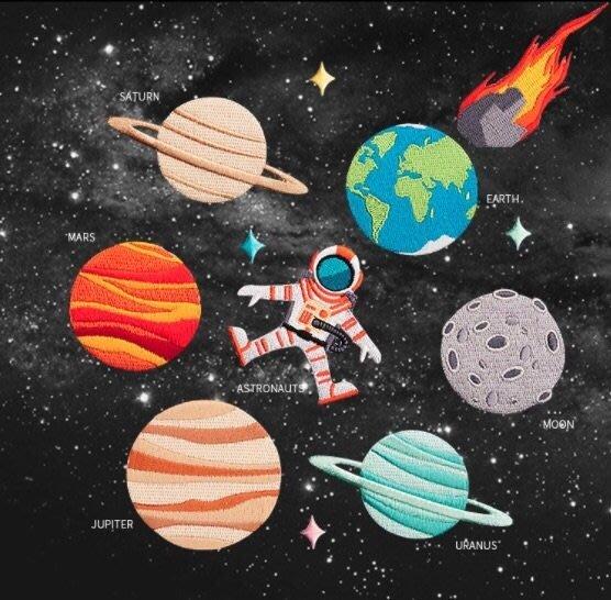 日韓宇宙星球系列刺繡補丁貼片