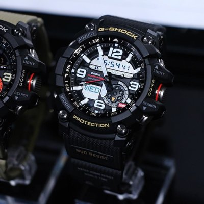 CASIO G-SHOCK MUD resistant GG-1000-1A 黑色 指南針 温度計 WR 200-meter GSHOCK GG1000