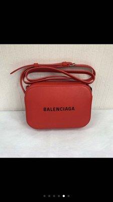 [4real]Balenciaga 字母 紅色相機包