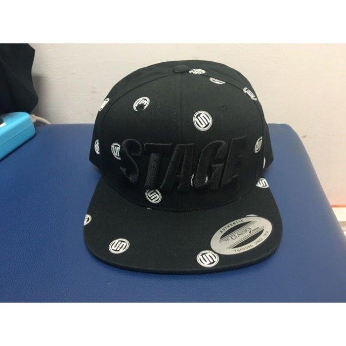 羅志祥 STAGE棒球帽 STAGE Logo滿版棒球帽 STAGE正品棒球帽