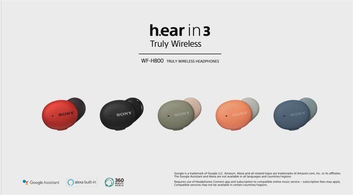 ─ 立聲音響 ─ 台灣 SONY 公司貨 加贈藍芽喇叭 Sony WF-H800 Wf H800 真無線藍芽耳機