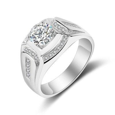 現貨.正品純銀s925超霸氣2克拉男鑽戒指~閃到您的眼睛.結婚情人節.生日禮~原價18000元.現在只要6800元