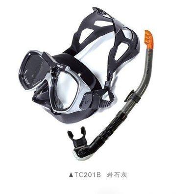 台灣潛水-台灣潛水-TC201 Combo RACE面鏡+SN06 TRO 呼吸管