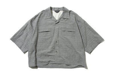 "[ LAB Taipei ] UNUSED ""US1806 GLEN CHECK OPEN COLLAR SHIRT """