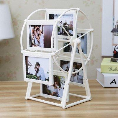 創意DIY手工照片風車旋轉相框擺臺相冊結婚擺件女生畢業季