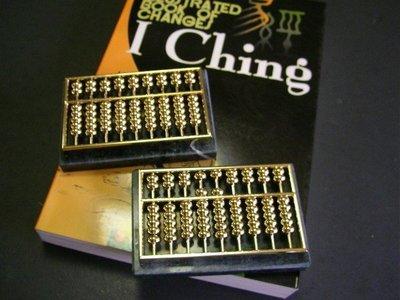 ((7文具))中國古代計算機-銅製算盤文鎮,高品質 (made in Taiwan)