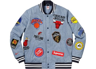 「Rush Kingdom」代購 Supreme Nike/NBA Teams Warm-Up Jacket  單寧外套