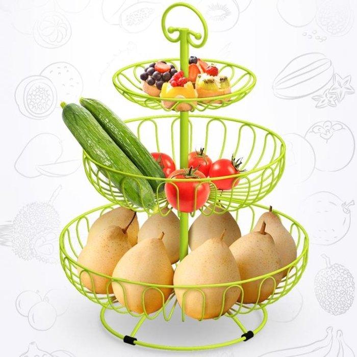 水果盤客廳創意家用多層果盤現代多功能水果籃三層果盤歐式糖果盤HPXW