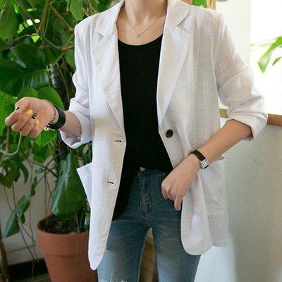 西裝外套薄款外套 韓系 OL極簡風透氣薄款空調外套 艾爾莎 【TGK7591】