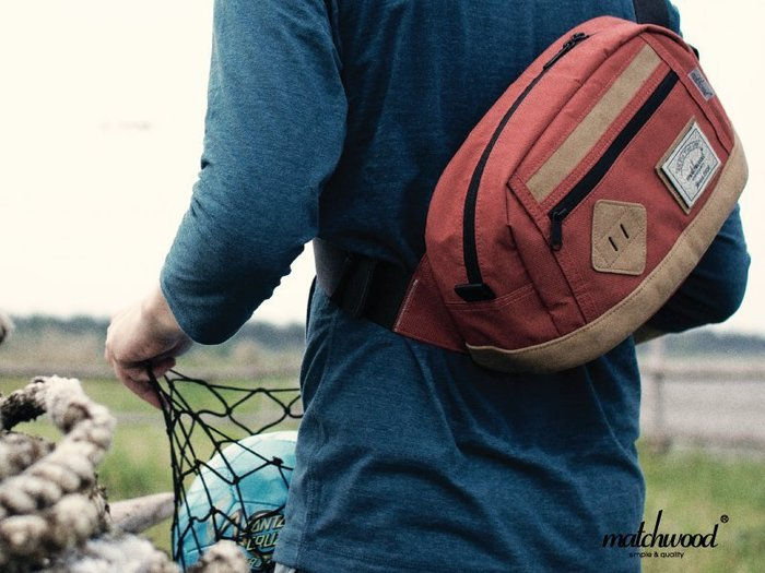 【Matchwood直營】Matchwood Density 腰包 側背肩背斜背胸前防竊隨身包 磚紅色款 開學限時優惠