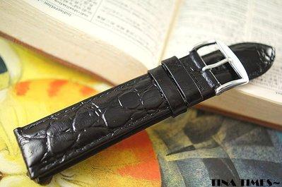 TINA TIMES~價格破天荒呀!法國品牌 ZRC鱷魚紋牛皮錶帶_歐規毛底皮舒適設計 賣主強烈推薦 多種尺寸任君挑選