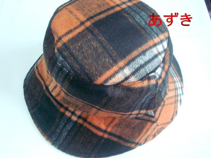 短絨毛料厚織x格紋配色設計輕淑女秋冬漁夫帽款-格紋款