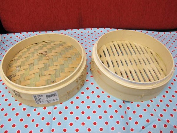 315百貨~燒賣、蒸餃的家 竹蒸籠-8吋  (單個)     /底層 、蓋子個別販售