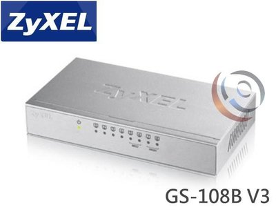 「ㄚ秒市集」ZyXEL 合勤 GS-108B V3 鐵殼 8埠 Giga乙太網路交換器 集線器 HUB