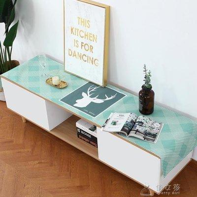 日和生活館 桌旗防水電視柜桌布北歐棉麻布藝茶幾桌布防塵電視柜蓋布長桌旗可S686