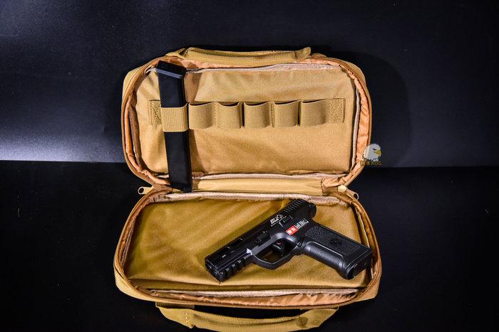 【翔準軍品AOG】沙色手槍包 35cm戰術手槍包(沙) 手提袋 手提包 槍包 槍盒 戰術包 P0507ZH