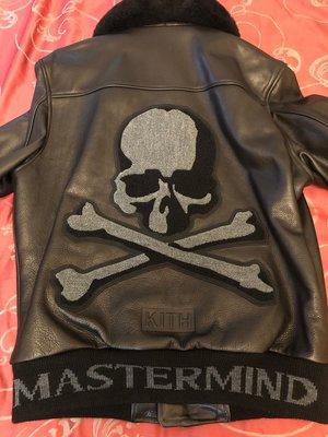 KITH x Mastermind 聯名 骷髏 皮衣 外套 刷毛 S號 全新品 正品 現貨