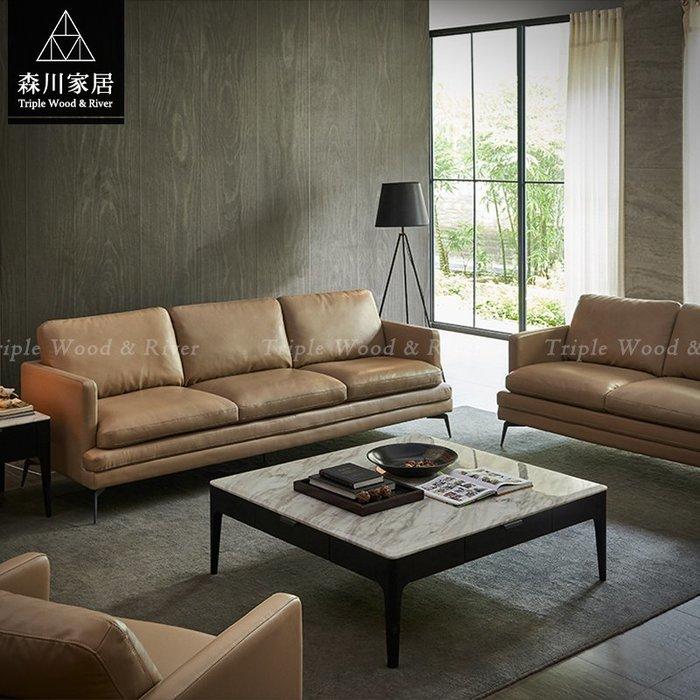 《森川家居》PLS-07LS113-現代設計牛皮L型沙發 起居室客廳民宿品東西餐桌餐椅/簡約原木設計/IKEA復古