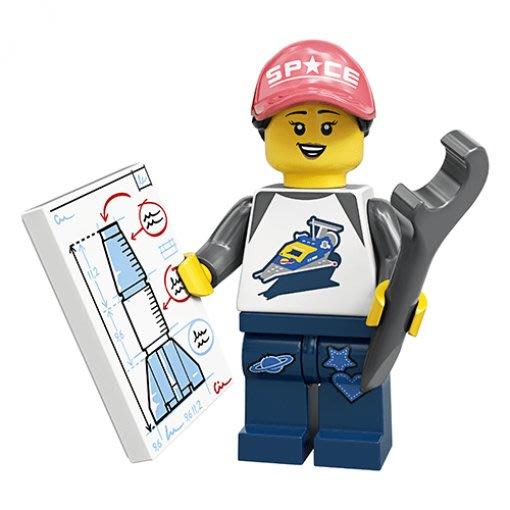 現貨【LEGO 樂高】積木/ Minifigures 人偶包系列: 20代 71027 | #6 太空粉絲+火箭+工具