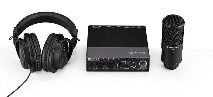 造韻樂器音響- JU-MUSIC - 全新 steinberg UR22C Recording Pack 錄音介面套裝