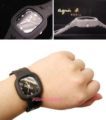 【FULL HOUSE 】日本人氣品牌  agnes b. ab To b.  紅色 橡膠手錶   SALE