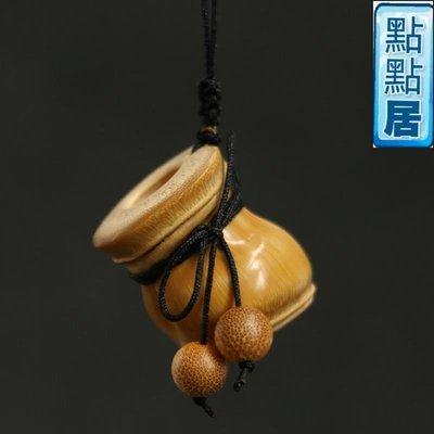 """【點點居】手工雕刻隨型羅漢竹巧做""""金錢袋""""竹制精工打磨把玩把件掛件竹器竹雕竹製品DD01511"""