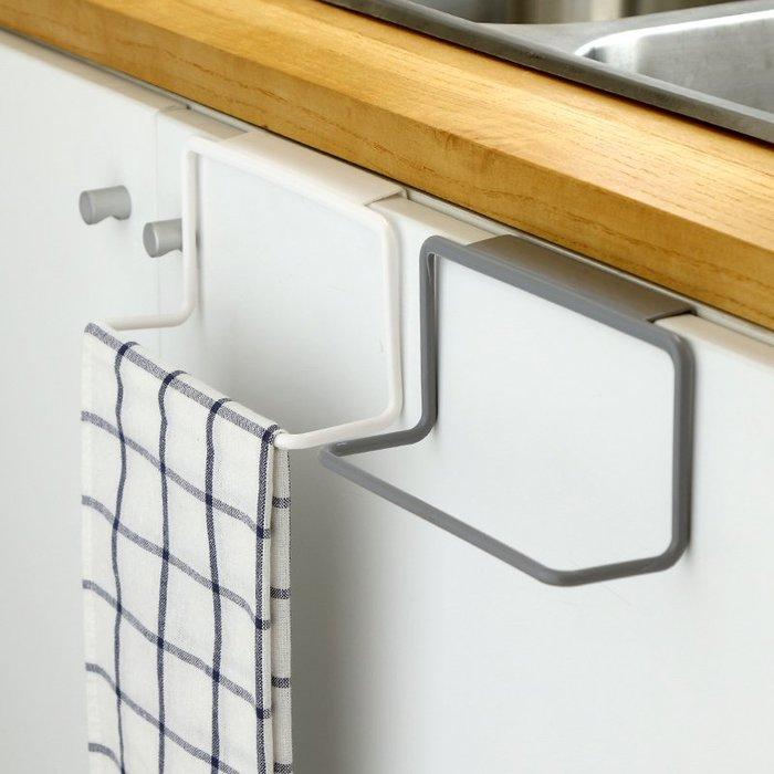 壁掛毛巾架廚房柜門后掛架掛門置物架廚房門背式免打孔抹布架