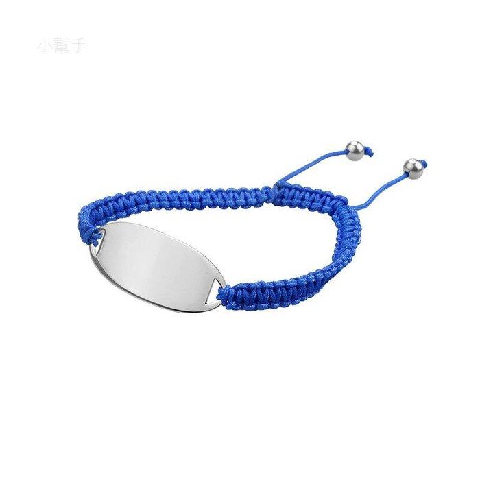 女士時尚飾品皮革手鏈不銹鋼光滑藍色皮革和皮革編織手鏈手鐲 新麗小舖