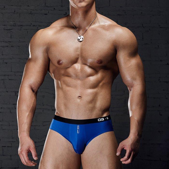 【OTOKO Men's Boutique】MOEA墨立方:透氣運動三角內褲/藍色(台灣獨家代理)
