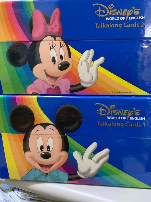 迪士尼美語sing along 字卡510張(沒有刷卡機,是雙面彩色的)