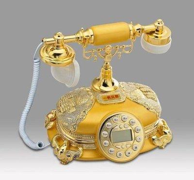 福利館◎【復古風仿電話x免運優惠中x贈USB燈】GDB-251B 一帆風順(黃帝金) 經典電話