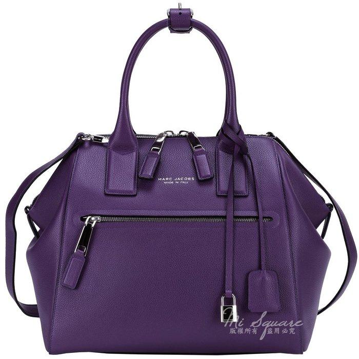 米蘭廣場MARC JACOBS Textured Large Incognito小牛皮兩用提包(紫)1440068-04