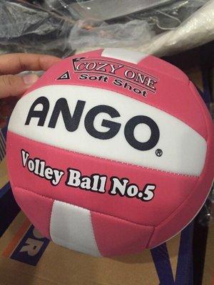 ◇ 羽球世家◇【排球】ANGO 安全軟式排球(非Conti)《限定粉紅白-再也不手痛囉!!