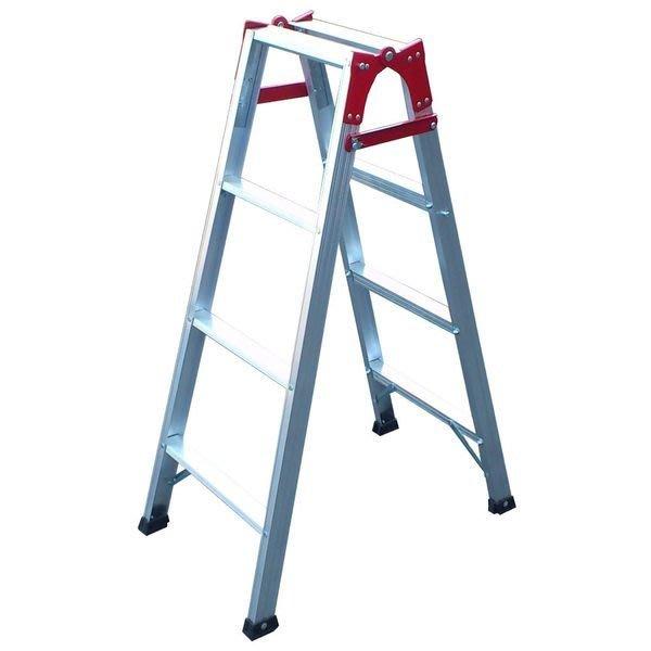 兩用梯! 4階 直馬梯 A字梯111公分 一字梯 鋁梯 梯子 馬椅梯 關節梯 安全荷重80kg 台灣原廠 4尺