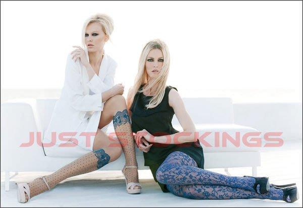 °☆就要襪☆°全新義大利品牌 OROBLU ALIDA V型仿蕾絲及膝襪造型絲襪(20DEN)