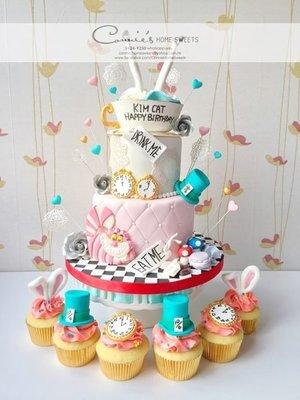 【Connie's Home Sweets】Alice in Wonderland 愛麗絲夢遊仙境 生日蛋糕 Birthday Cake