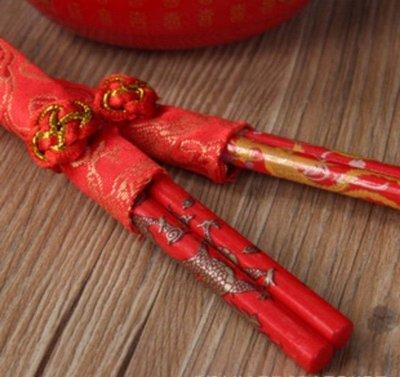 婚禮小物 討喜1雙入龍鳳工藝筷子