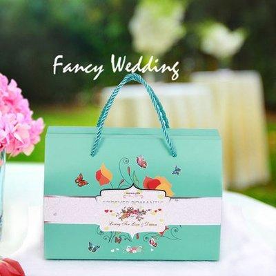 《 禮品批發王 》蝶舞喜糖盒 禮品盒 手提袋  喜米提袋  包裝盒   (特大款可容納2公斤糖)