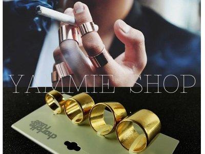 ~YAMMIE SHOP~金色四枚套裝組 美國設計師品牌  金屬 戒指 關節戒 指環 HM ZARA簡約風(CSJ12)