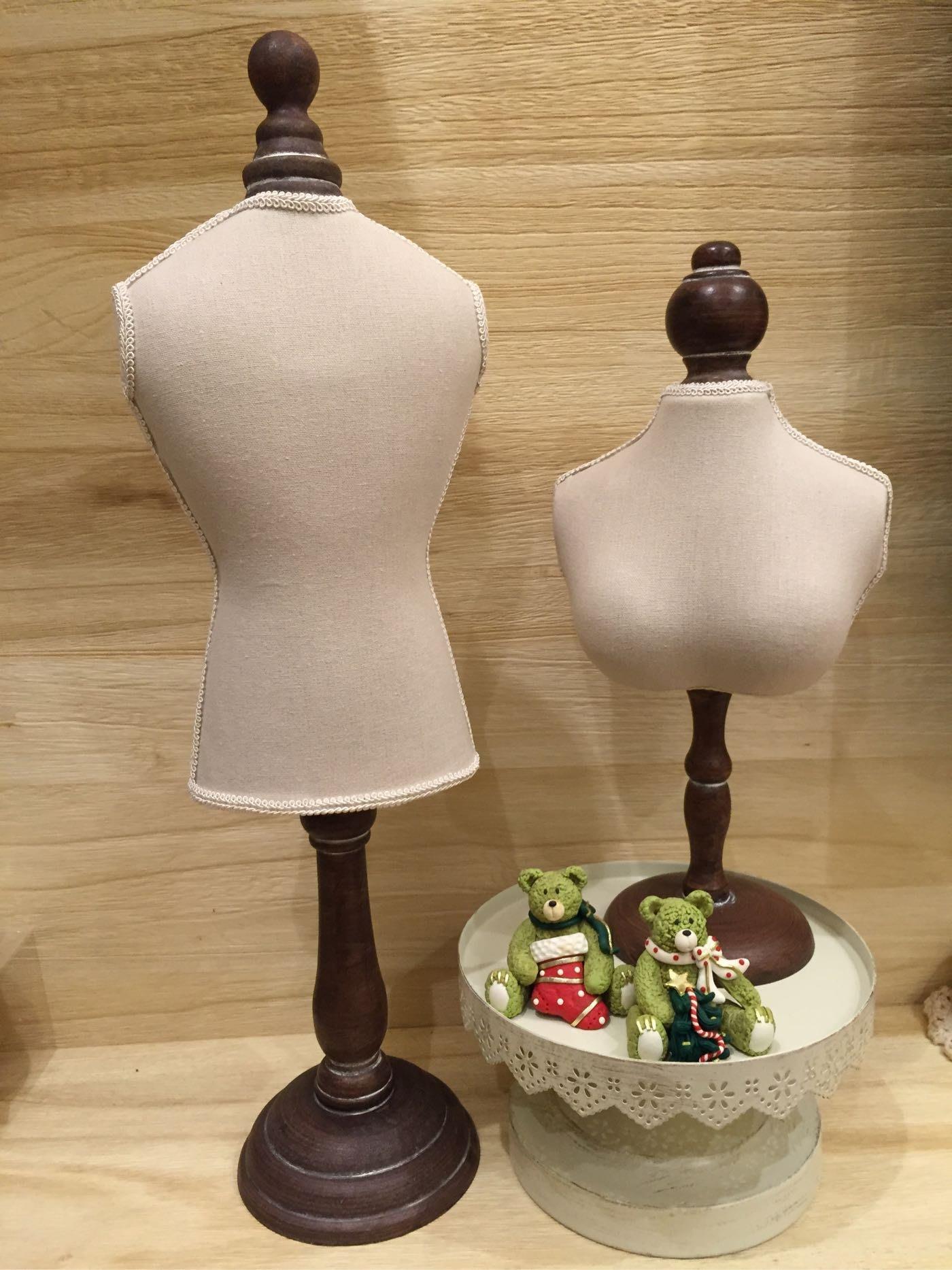 手工麻布人形模特兒 飾品展示架
